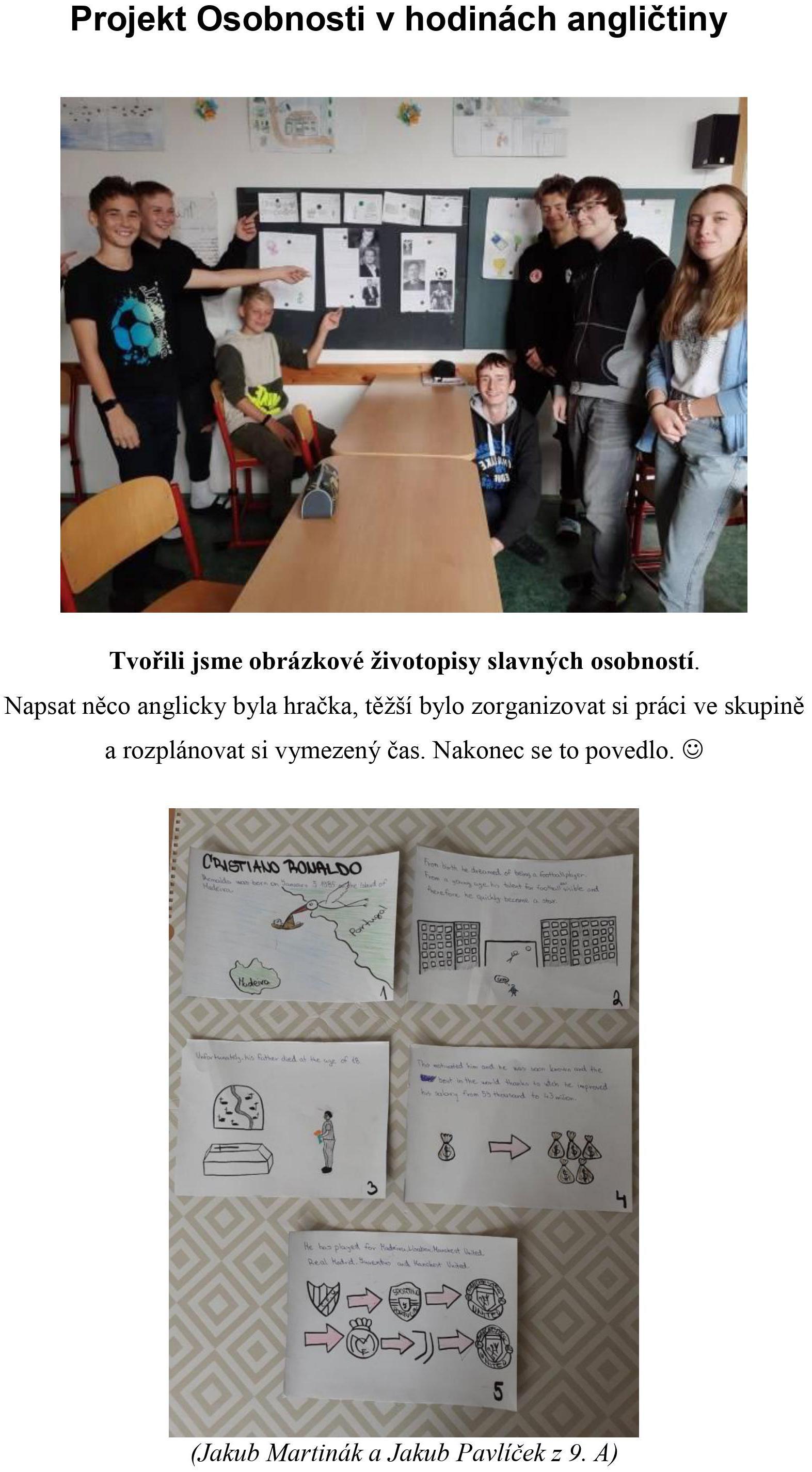 Pěšky do školy - tabulka II. A
